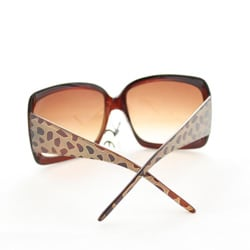 Women's 26557 Brown Oversized Sunglasses - Thumbnail 2