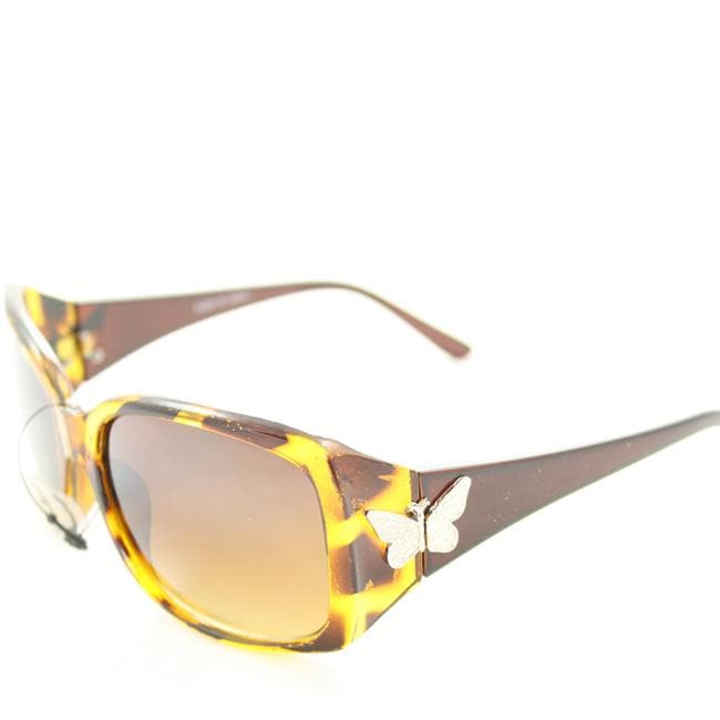 Women's P8124 Brown Leopard Fashion Sunglasses