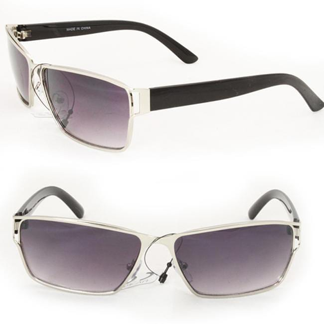 Men's F758 Silvertone Square Sunglasses