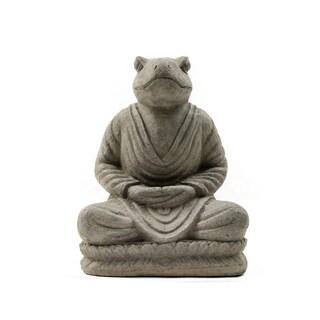Handmade Meditating Frog Statue