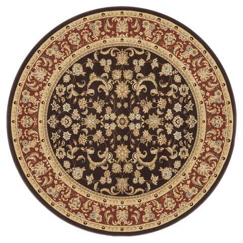 Primeval Beige/ Black Oriental Rug