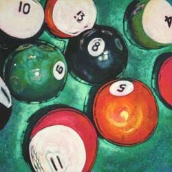 'Eight Ball' Canvas Art