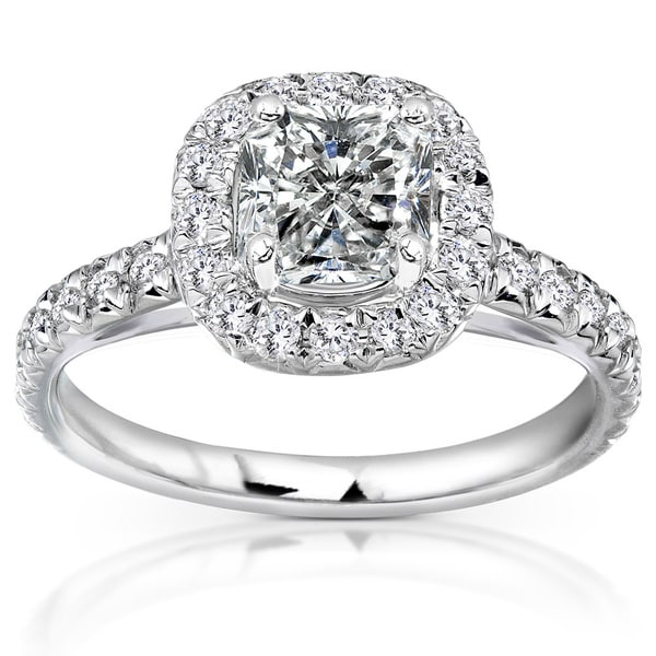 Annello by Kobelli 14k White Gold 1 2/5ct TDW Diamond Engagement Ring (H-I, I1-I2)