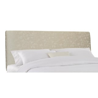 Lindsey King Headboard Upholstered in Parchment Damask- Skyline Furniture