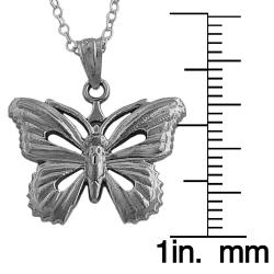 Fremada Sterling Silver 18-inch Polished Butterfly Necklace