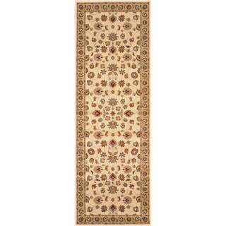 Primeval Ivory/ Beige Oriental Rug (2'8 x 7'7)