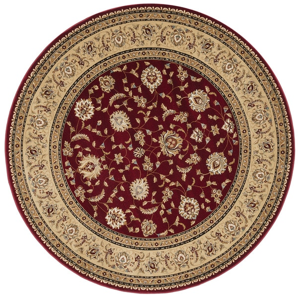 Shop Primeval Red Oriental Rug 7 7 Round Free Shipping