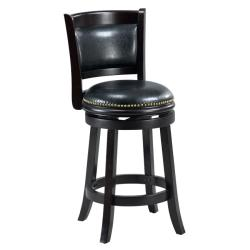 Alexis Cappuccino Padded Back 24-inch Counter Stool