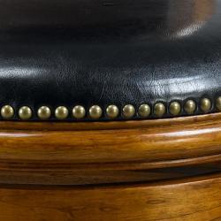Alexis Dark Oak Padded Back 29-inch Barstool - Thumbnail 1