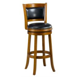 Alexis Dark Oak Padded Back 29-inch Barstool - Thumbnail 0