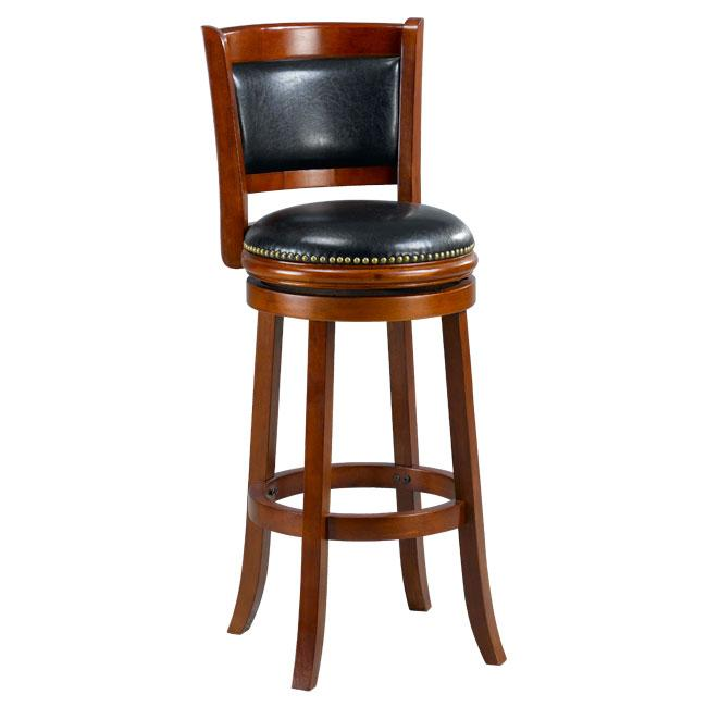 Shop Alexis Cherry Padded Back 29 Inch Barstool Free Shipping