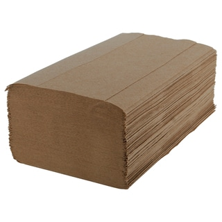 Natural Single Fold Paper Towels (Case of 4,000)