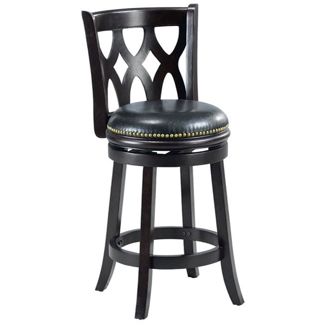Valencia Cappuccino Triple Crossback 24-inch Counter Stool - Thumbnail 0