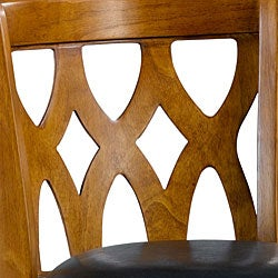 Valencia Dark Oak Triple Crossback 24-inch Counter Stool