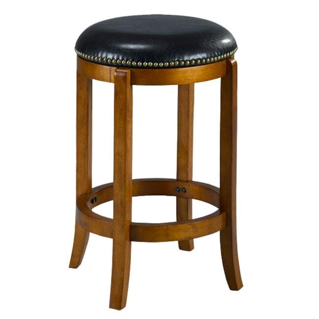 Jackson Bicast Leather Dark Oak Counter Stool Free