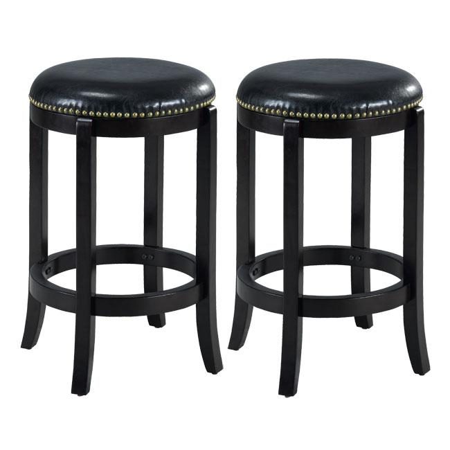 Jackson Leather Cappuccino Counter Stools Set Of 2