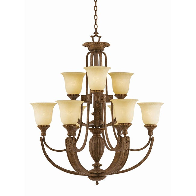 Ambassador 9-light Morrocan Bronze Chandlelier