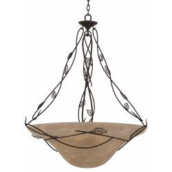 Whisper 6-light Blacksmith Bronze Pendant Fixture - Thumbnail 1