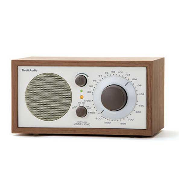 tivoli audio kloss model one walnut am fm table radio. Black Bedroom Furniture Sets. Home Design Ideas