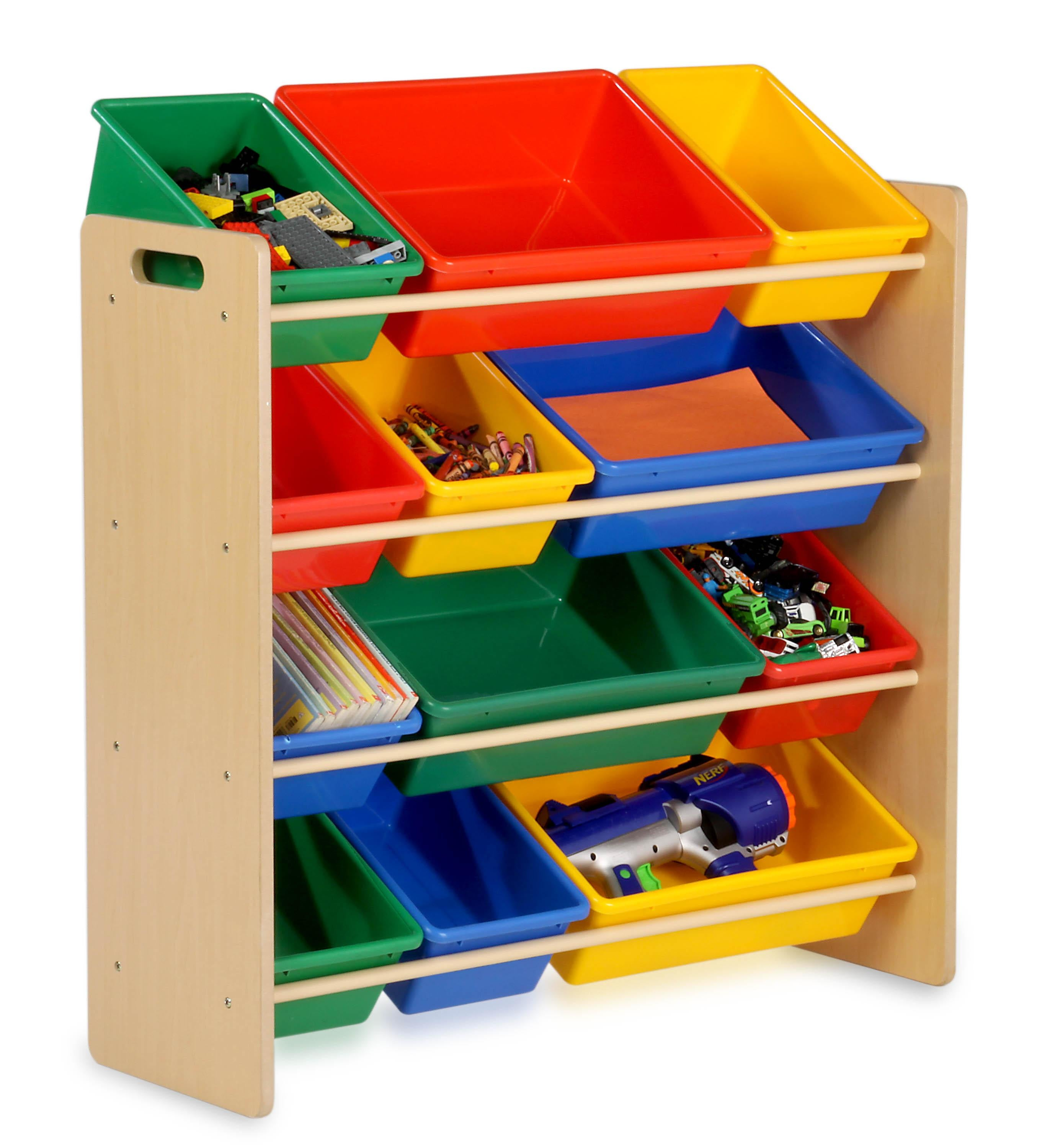 Honey-Can-Do Primary Colors Kids Storage Organizer, Clear