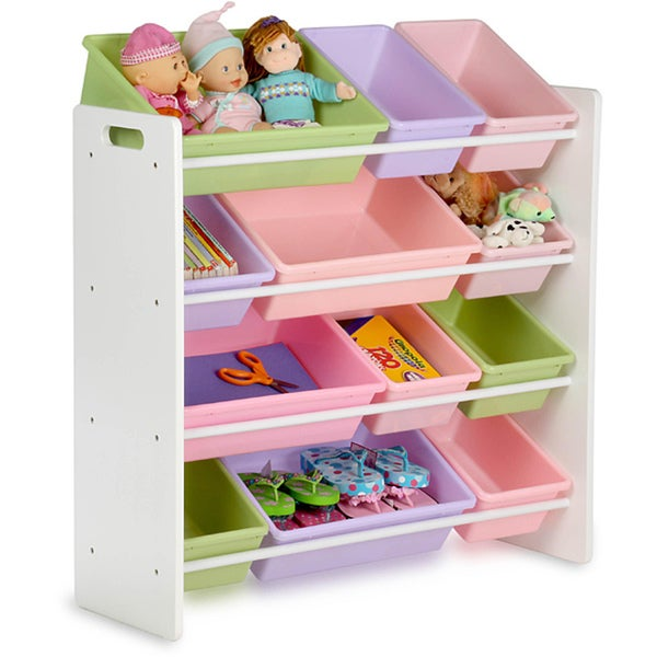 Honey-Can-Do Pastel Colors Kids\' Wood Storage Organizer - Free ...