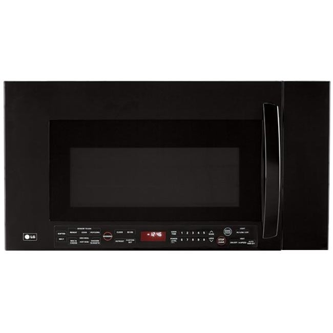 LG 2.0 Cu.Ft. 1100W Black Over-the-Range Microwave (Refurbished)