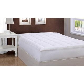Damask Stripe Pillow Top 500 Thread Count Mattress Pad