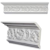 Scrolling Leaf 6.375-inch Crown Molding (Pack of 8)