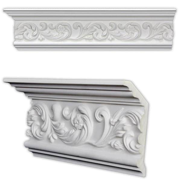 Scrolling leaf crown molding pack of 8 free for 9 inch crown molding