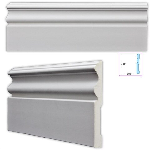 Traditional 4.75-inch Baseboard (Pack of 8)