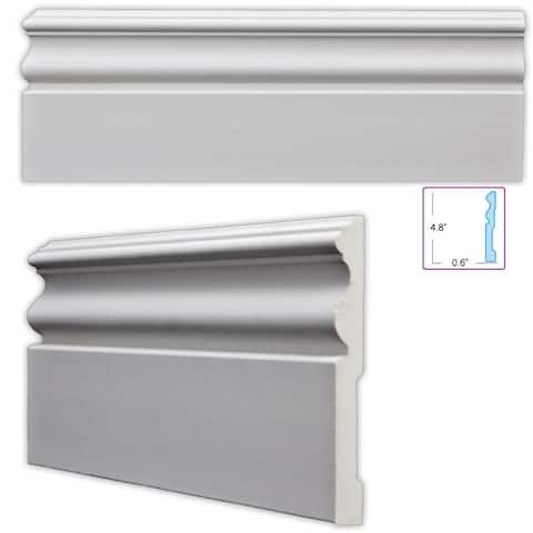 Traditional 4.75-inch Baseboard (8 pieces)
