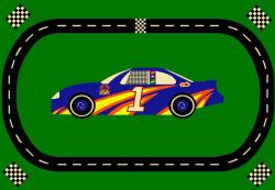 Sports Time Race Car Rug (3'3 x 5') - Thumbnail 1