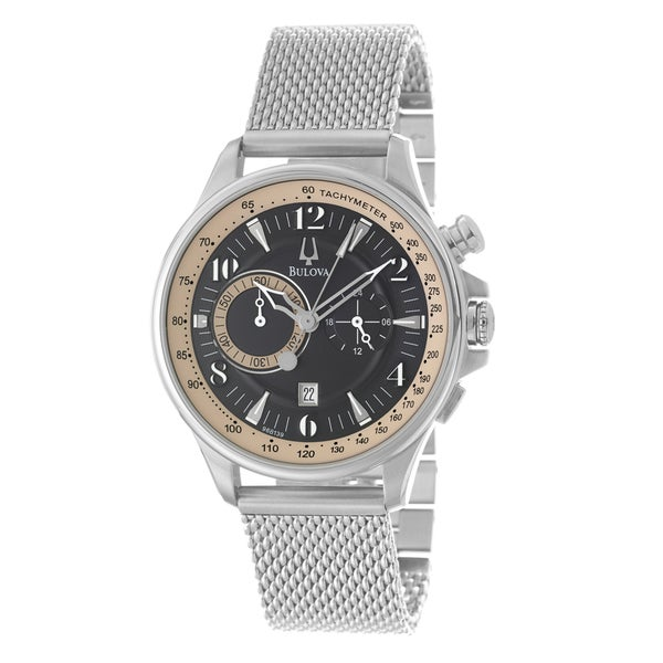 Bulova 'Adventurer' Chronograph Men's Mesh Bracelet Watch