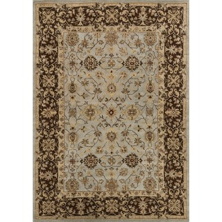 Hand-tufted Aara Blue/ Brown Wool Rug (7'10 x 11'0)