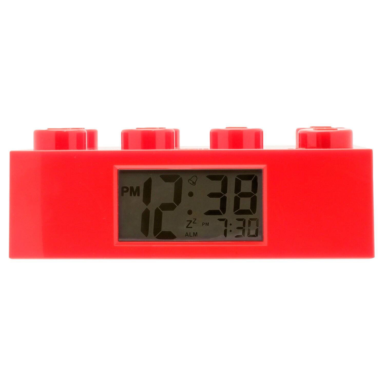 Lego Red Brick Clock, Black (Plastic)