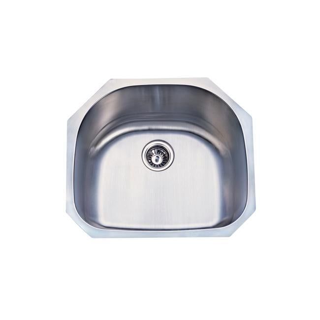 Single Stainless Sink : KRAUS 23 Inch Undermount Single Bowl Stainless Steel Kitchen Sink with ...