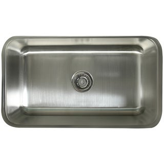single bowl 30inch stainless steel undermount kitchen sink - Undermount Kitchen Sinks