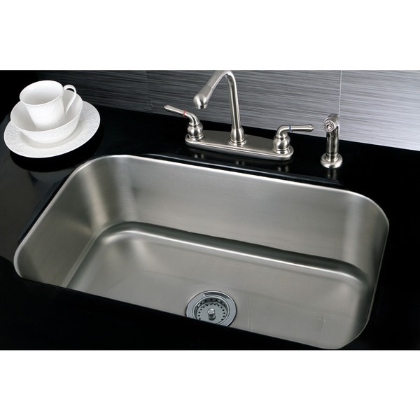 Sink Undermount : 31 Inch Undermount Single Bowl 16 Gauge Stainless Steel Kitchen Sink ...