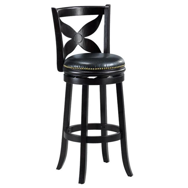 Livingston Cappuccino Floral Back Swivel Bar Stool