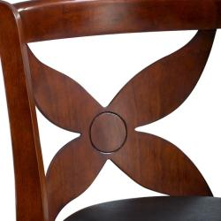 Livingston Cherry Floral Back Swivel Bar Stool