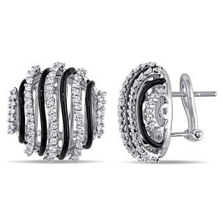 Miadora Signature Collection 18k White Gold 1 1/3ct TDW Diamond Earrings