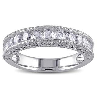 Miadora Sterling Silver 1ct TDW Diamond Wedding Band (H-I, I3)