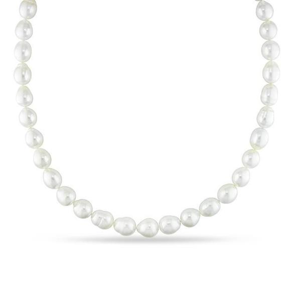 Miadora Signature Collection White South Sea Pearl and Diamond 18-inch Necklace (9-11 mm)