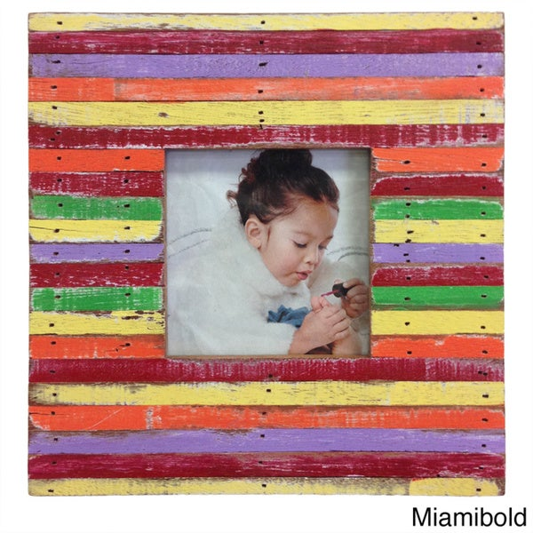 Handmade Boat wood Miamibold Picture Frame (Thailand)