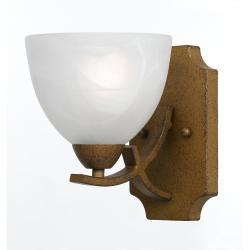 Transitional Aged Gold Finish 1-light Sconce - Thumbnail 2