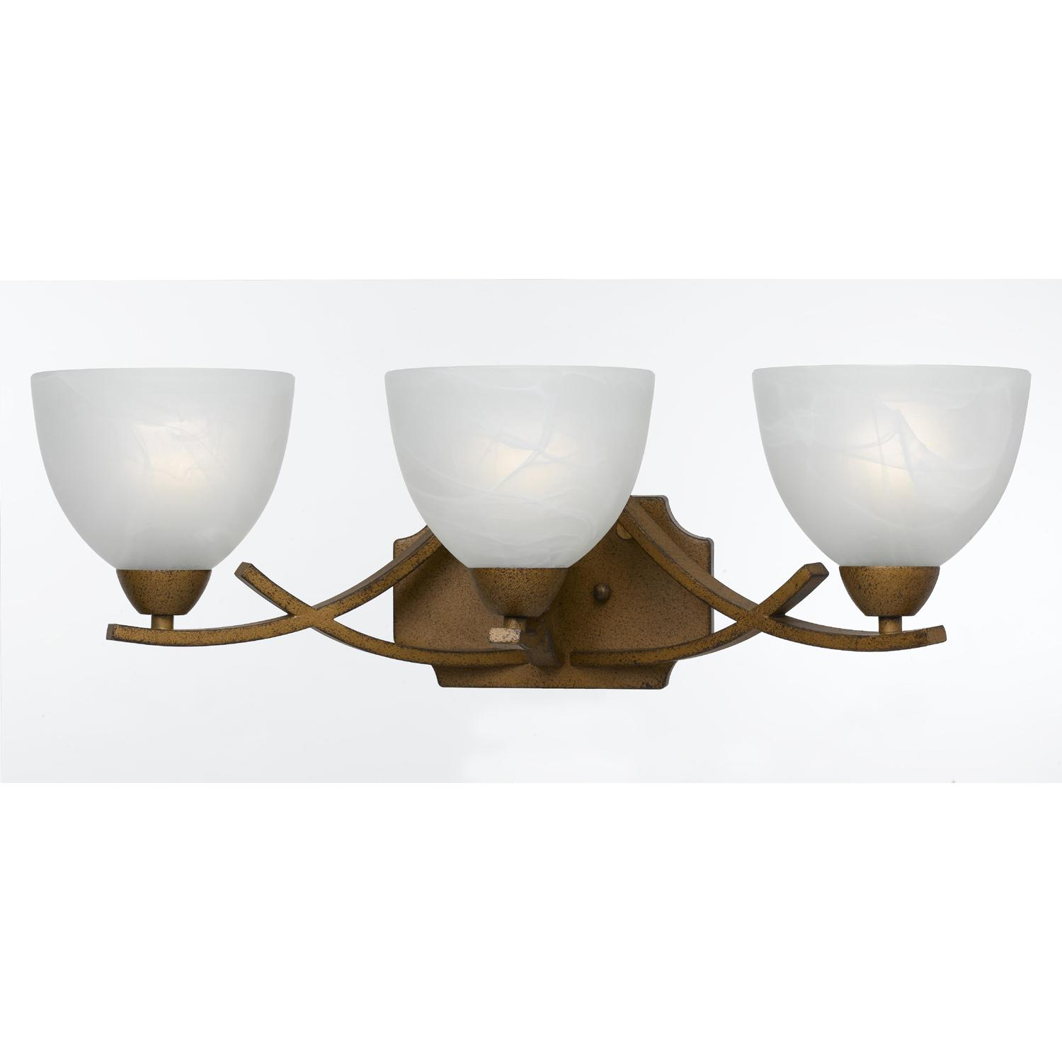 3 Light Gold Finish Bath Vanity Free Shipping Today