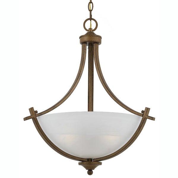 3-light Gold Finish Pendant