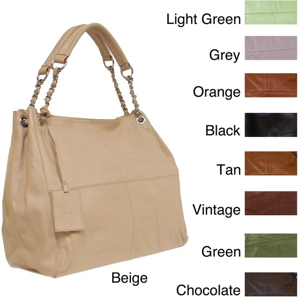 Donna Bella Designs 'Slick' Medium Leather Tote Bag