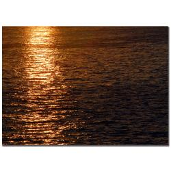 Kurt Shaffer 'Sunset Reflections' Canvas Art