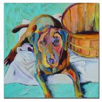 Pat Saunders-White 'Basket Retriever' Canvas Art